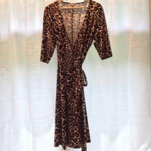 Leopard print wrap dress - super sexy!